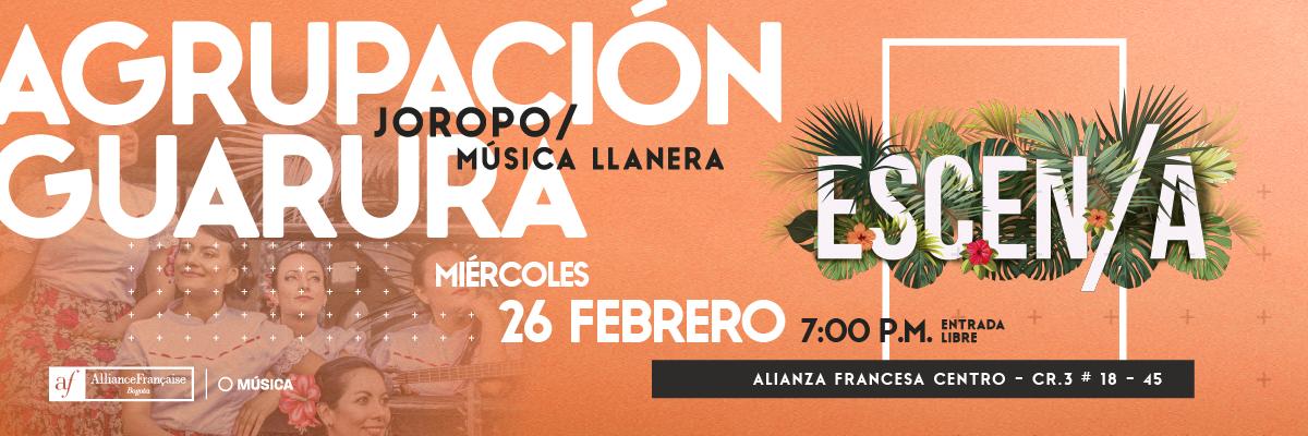 Agrupación Guarura en vivo en Escen/a